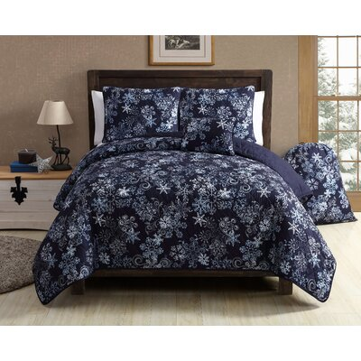 Scroll Snowflake Quilt Set Size: Full/Queen