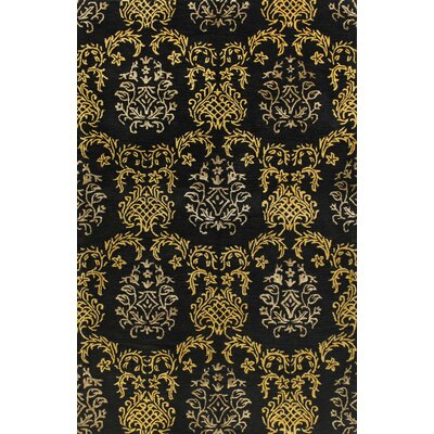 Parkison Hand-Tufted Black Area Rug Rug Size: Runner 26 x 8