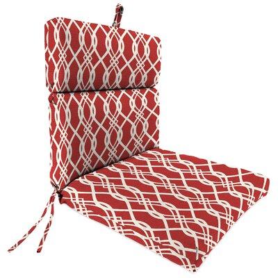 Outdoor Dining Chair Cushion Fabric: Hedda Ruby