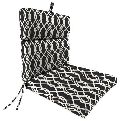 Outdoor Dining Chair Cushion Fabric: Hedda Tuxedo
