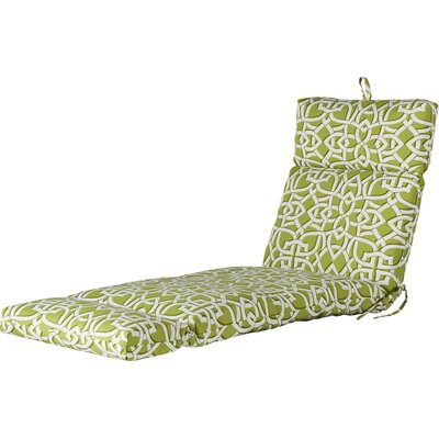 Polyester Outdoor Chaise Lounge Cushion Fabric: Greystone Willow