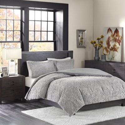 Bowes Comforter Set Size: Twin / Twin XL, Color: Gray