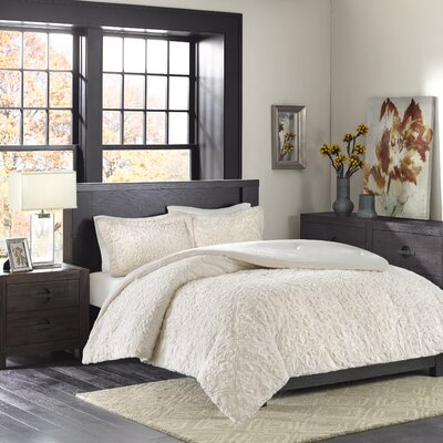 Bowes Comforter Set Size: Twin / Twin XL, Color: Ivory