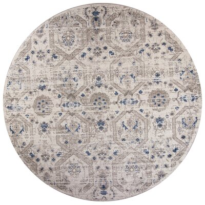 Lappin Ivory Area Rug Rug Size: Round 77