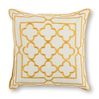 Darrah Cotton Throw Pillow Color: Gold