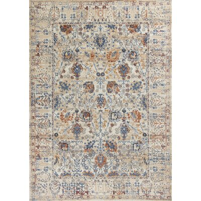 Lappin Beige Area Rug Rug Size: Rectangle 53 x 77