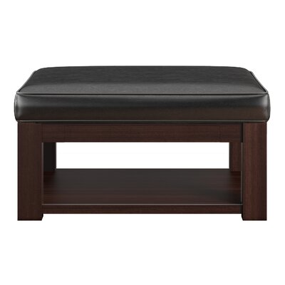 Back East Cross Cushion Ottoman Base Finish: Espresso