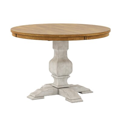 Fortville Dining Table Base Color: Antique White