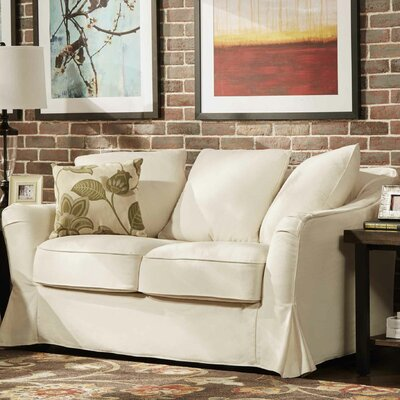 Blackwater Loveseat Upholstery: Soft White