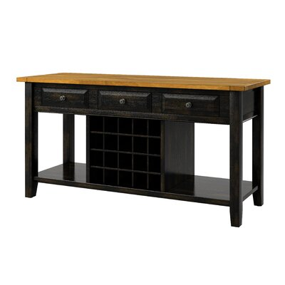 Fortville Buffet Finish: Oak/Antique Black