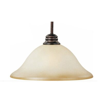 Elsner 1-Light Pendant Finish/Shade Color: Wilshire/Oil Rubbed Bronze