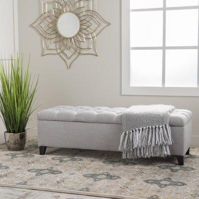 Amalfi Storage Ottoman Upholstery: Light Gray