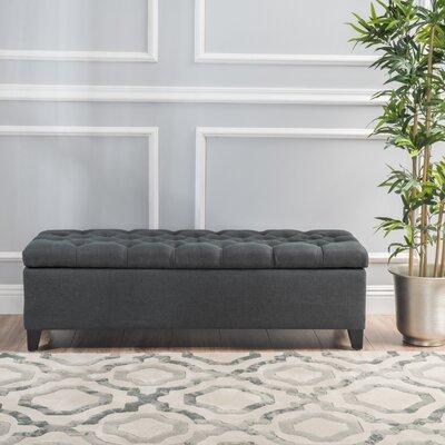 Amalfi Storage Ottoman Upholstery: Dark Grey