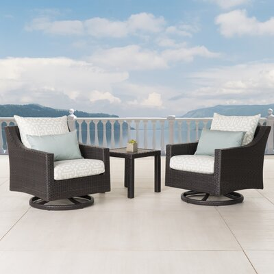 Northridge 3 Piece Deep Seating Group Fabric: Spa Blue