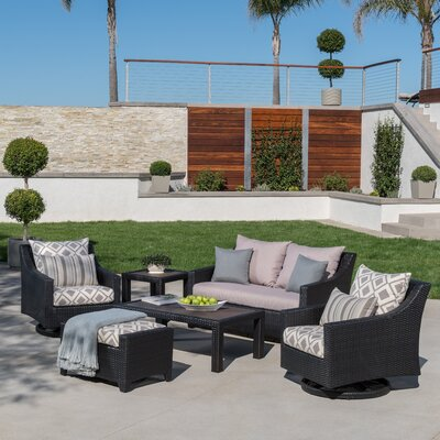 Northridge 6 Piece Deep Seating Group Fabric: Wisteria Lavender