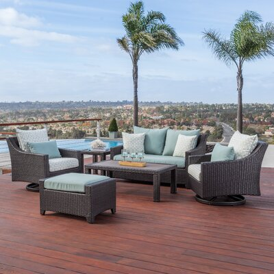 Northridge 6 Piece Deep Seating Group Fabric: Spa Blue