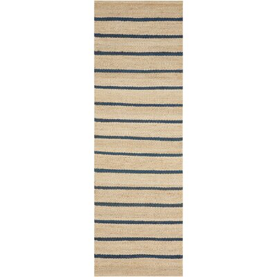 Cripps Hand-Woven Black/Wheat Area Rug Rug Size: Runner 23 x 76