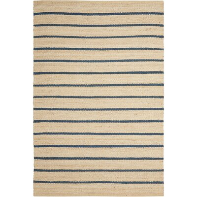 Cripps Hand-Woven Black/Wheat Area Rug Rug Size: 8 x 10