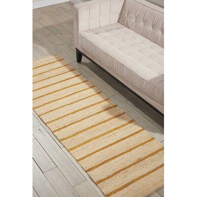 Laflin Hand-Woven Wheat/Tan Area Rug Rug Size: Runner 23 x 76