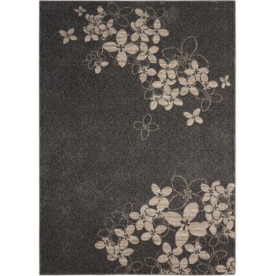 Regina Charcoal Area Rug Rug Size: Rectangle 53 x 73