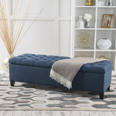 Amalfi Storage Ottoman Upholstery: Dark Blue