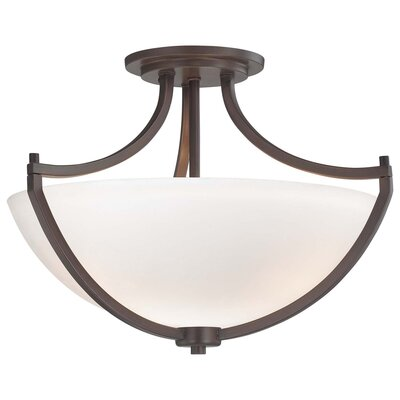 Parthena 3-Light Semi Flush Mount