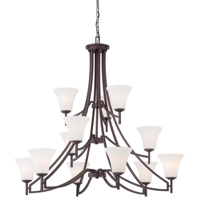 Parthena 12-Light Shaded Chandelier