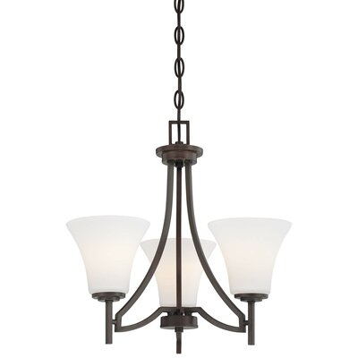 Parthena 3-Light Shaded Chandelier