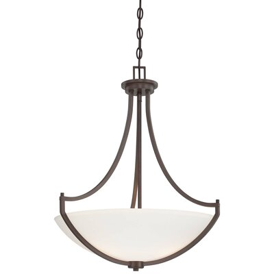 Parthena 3-Light Bowl Pendant