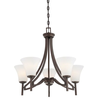 Parthena 5-Light Shaded Chandelier