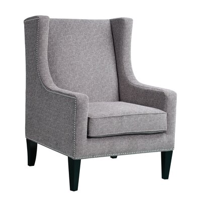 Agnes Wingback Chair Upholstery: Grey