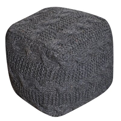 Rockcrest Pouf Ottoman Upholstery: Charcoal