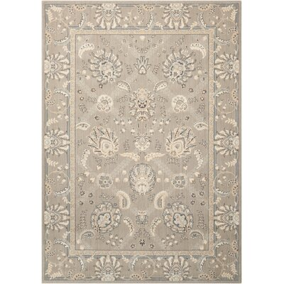 Dowdell Gray Area Rug Rug Size: Rectangle 36 x 56