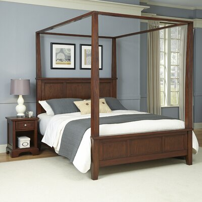 Borden Canopy 2 Piece Bedroom Set Size: King