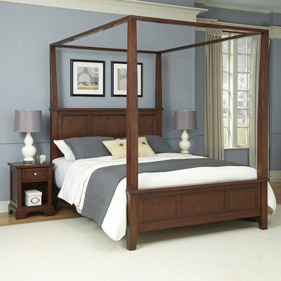 Borden Canopy 3 Piece Bedroom Set Size: King