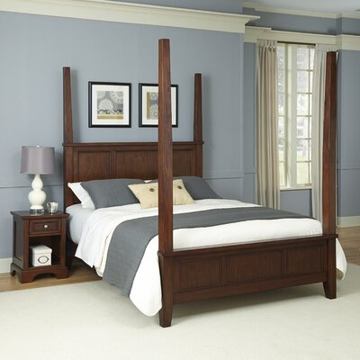 Borden Four Poster 2 Piece Bedroom Set Size: King
