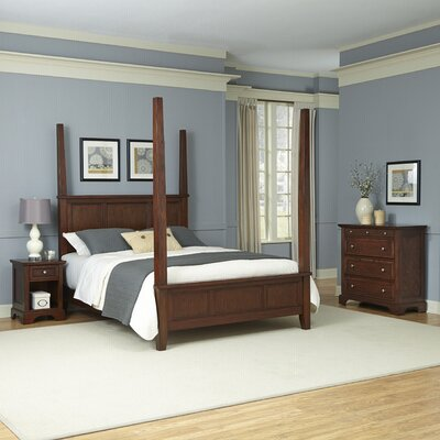 Borden Four Poster 3 Piece Bedroom Set Size: King
