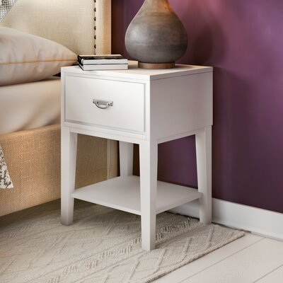 Richboro 1 Drawer Nightstand Finish: White