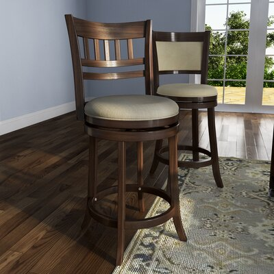 Heartwood 24 Swivel Bar Stool Upholstery: Beige