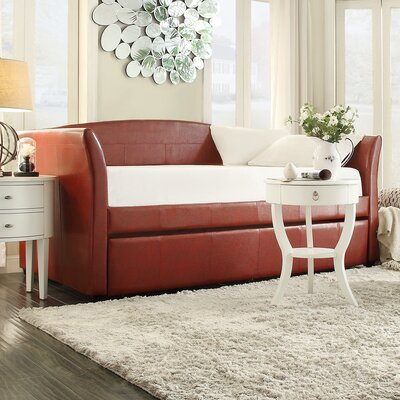 Burlington Daybed with Trundle in Wine Red