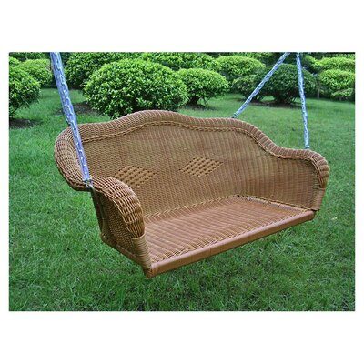 Belle Isle Wicker Porch Swing Finish: Mocha