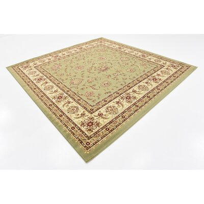 Badillo Green Area Rug Rug Size: Square 8