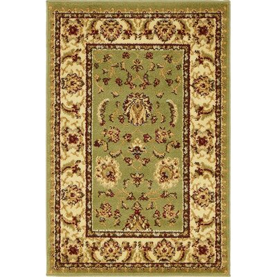 Badillo Green Area Rug Rug Size: 2'2