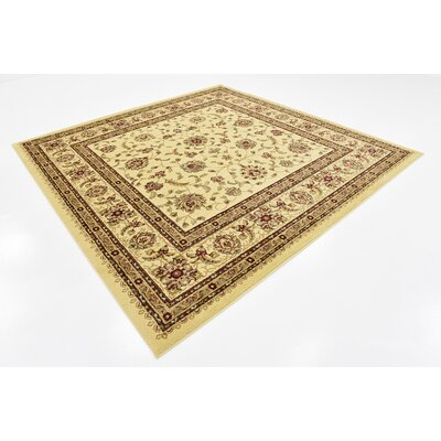 Niles Floral Cream Area Rug Rug Size: Square 8