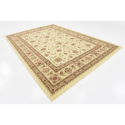 Fairmount Floral Cream Area Rug Rug Size: Rectangle 8 x 114