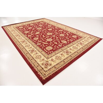 Badillo Red Area Rug Rug Size: 8W x 11L