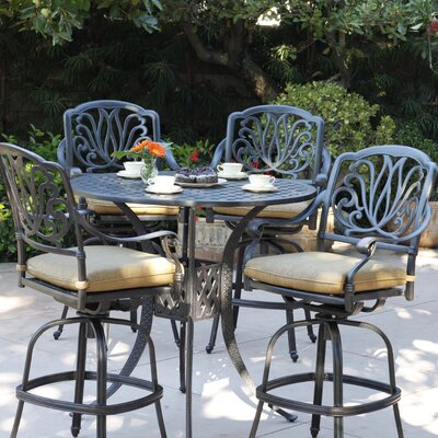 Lebanon 5 Piece Bar Set with Cushions
