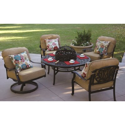 Lebanon 5 Piece Deep Seating Group with Cushion