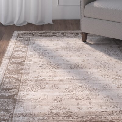 Lafond Beige / Light Brown Rug Rug Size: 8 x 11