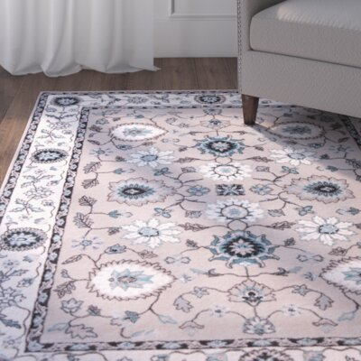 Hawley Gray Area Rug Rug Size: 52 x 72
